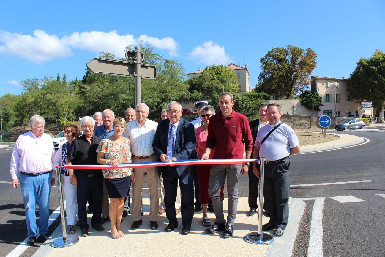 18 Septembre 2018, inauguration du giratoire de la RD 956 à la Tour d'Aigues